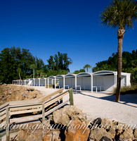Master Builder Michael Walker Restoration of Architect Paul Rudolph Historic Beach Cabanas ,  Siesta Key, Florida